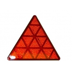 Triangelreflex röd, 137x156x8 mm