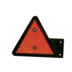 Triangelreflex röd, på gummiarm, vänster