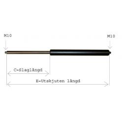Gasfjäder 14/28 E618, C275