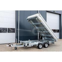 Humbaur 3-vägs el-tipp, 314x175x35, 3000kg, El & handpump, 75cm