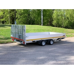 Hydraulisk El-tipp Multisläp/Maskintransport 406x220x30cm, 3500kg, 63cm