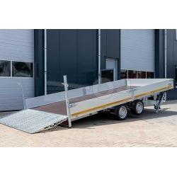 Eduard Hydraulisk El-tipp Multisläp/Maskintransport 506x220x30cm, 3000kg, 63cm