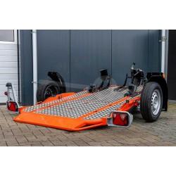 Cochet Duo, 235x137cm, Obromsad, 750kg, Lasthöjd 45cm, Orange